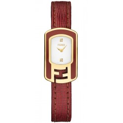 F317424073D1 Fendi Chameleon Red Enamel Yellow Gold Watch 18mm