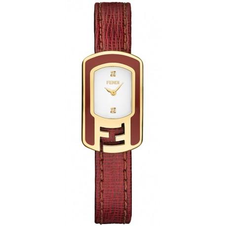 F317424073D1 Fendi Chameleon Red Enamel Yellow Gold Watch 18mm