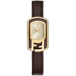 F312425021D1 Fendi Chameleon Brown Enamel Yellow Gold Watch 18mm