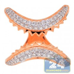 18K Rose Gold 0.87 ct Diamond Womens Trap Ring
