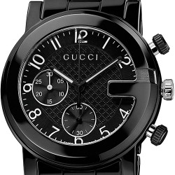 Gucci G-Chrono Black Ceramic Mens Watch YA101352