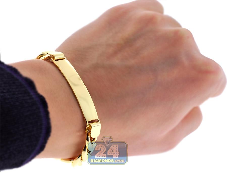 5a20896c7e63b 10K Yellow Gold Miami Cuban Link Mens ID Bracelet 11 mm 9 Inches