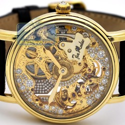 Joe Rodeo 18K Yellow Gold Diamond Mechanical Mens Watch