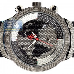 Mens Diamond Watch Joe Rodeo Master JJM8 2.20 ct Black Map