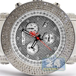 Mens Diamond Steel Watch Joe Rodeo Junior JJU54 3.30 Carats