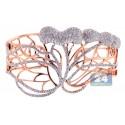 14K Rose Gold 6.24 ct Diamond Womens Openwork Bangle Bracelet