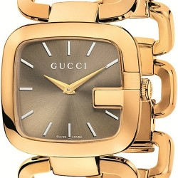 Gucci G-Gucci Yellow Gold PVD Bracelet Womens Watch YA125408