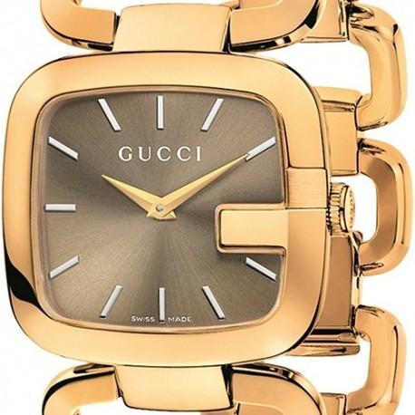 Gucci G-Gucci Yellow Gold PVD Bracelet Womens Watch YA125408