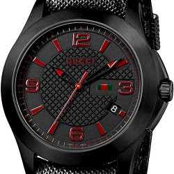Gucci G-Timeless Black PVD Steel Case Mens Watch YA126224