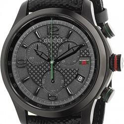 Gucci G-Timeless Chronograph Black PVD Mens Watch YA126244