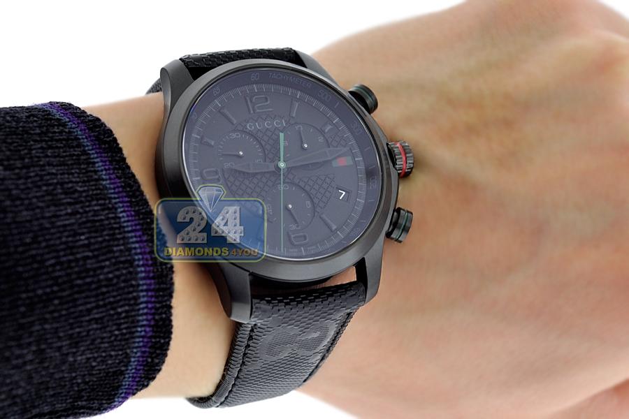 5f5cb757c17 Gucci G-Timeless Chronograph Black PVD Mens Watch YA126244