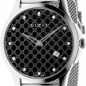 Gucci G-Timeless Diamond Steel Mesh Watch YA126311