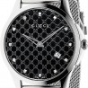 Gucci G-Timeless Diamond Steel Mesh Bracelet Watch YA126311