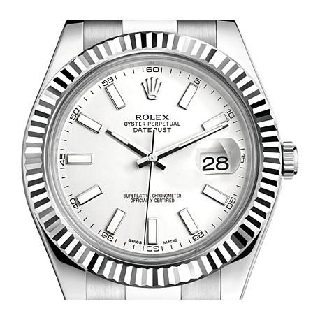 116334WSO Rolex Datejust II Steel 18K White Gold 41mm Watch