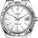 Rolex Datejust II Steel 18K White Gold 41 MM Watch 116334WSO