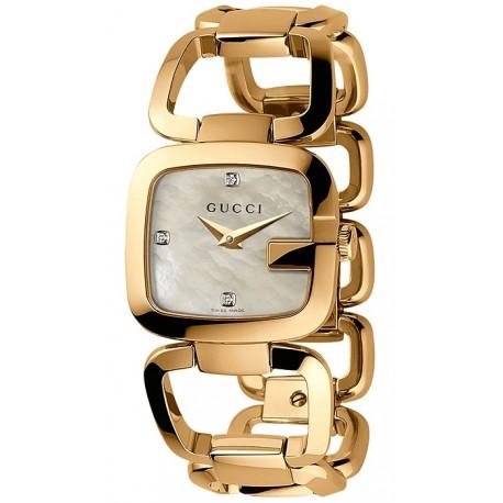 Gucci G-Gucci Gold Plated Diamond Womens Watch YA125513
