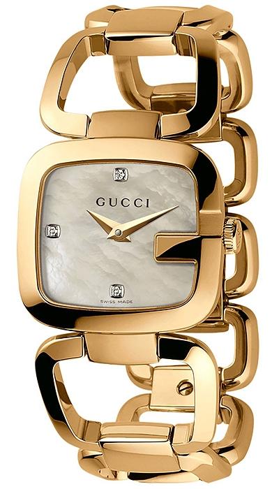 9c6a2b2f2 Gucci G-Gucci Gold Plated Diamond Womens Watch YA125513