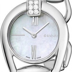 Gucci Horsebit Bangle Diamond Womens Watch YA139504