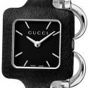 Gucci 1921 Steel Black Dial Leather Womens Watch YA130402