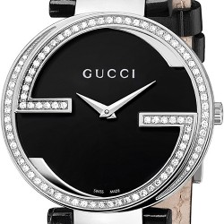 Gucci Interlocking Large Diamond Steel Womens Watch YA133306