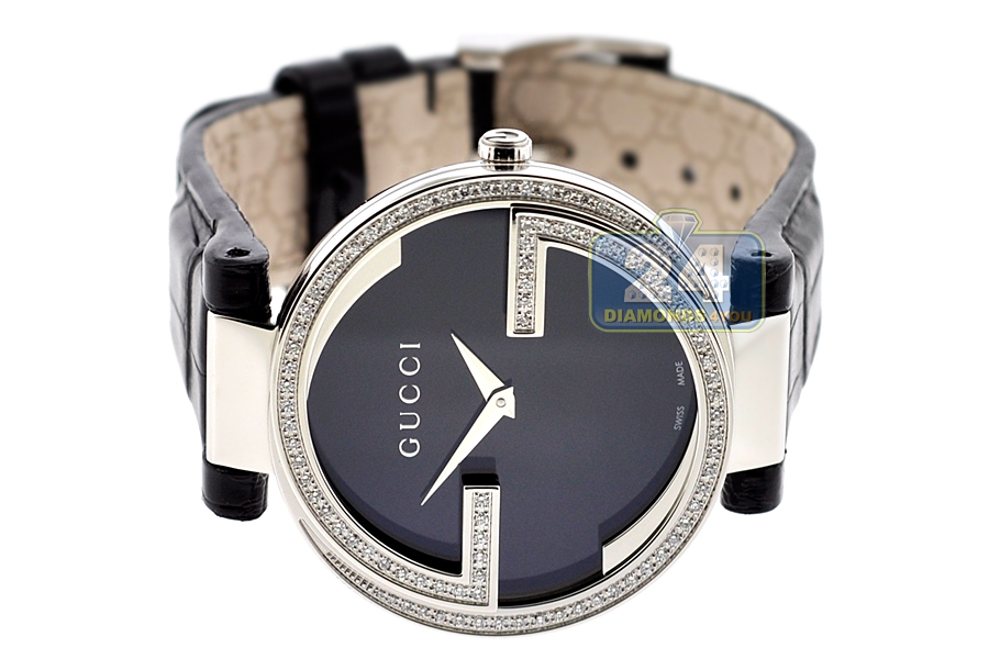 8238e678b24 Gucci Interlocking Large Diamond Steel Womens Watch YA133306