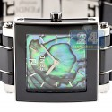 Fendi Black Ceramic Square Abalone Dial Womens Watch F625110