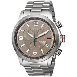 Gucci G-Timeless Chronograph Steel Bracelet Mens Watch YA126248