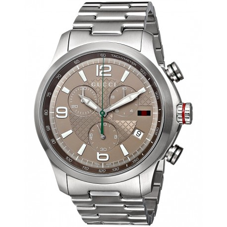 Gucci G-Timeless Chronograph Steel Bracelet Mens Watch YA126248