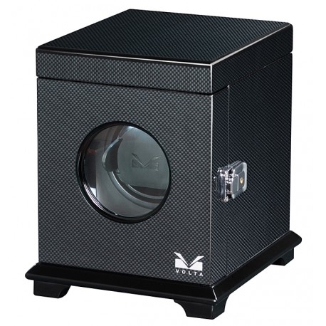Single Watch Winder Box 31-560010 Volta Belleview Carbon Fiber