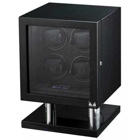 Quad Watch Winder Box 31-560040 Volta Signature Carbon Fiber
