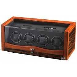 Quad Watch Winder Box 31-560042 Volta Rustic Ebony Rosewood