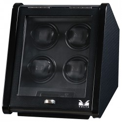Quad Watch Winder Box 31-560045 Volta Signature Slanted Carbon Fiber