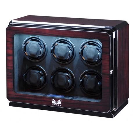 Six Watch Winder Box 31-570062 Volta Roadster Rosewood