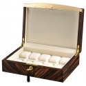 Volta Ebony Wood Cream Leather 10 Watch Box 31-560932