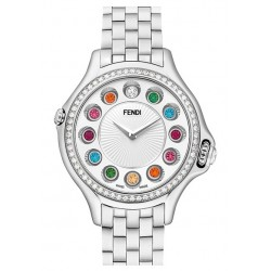 F107024000B0T05 Fendi Crazy Carats Diamond White Dial Watch 33mm