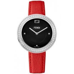 Fendi My Way Steel Red Leather 36 mm Watch F350031073