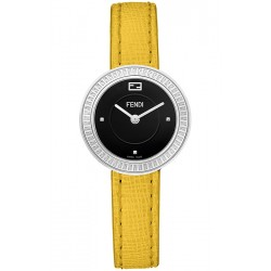 Fendi My Way Steel Yellow Leather 28 mm Watch F350021051