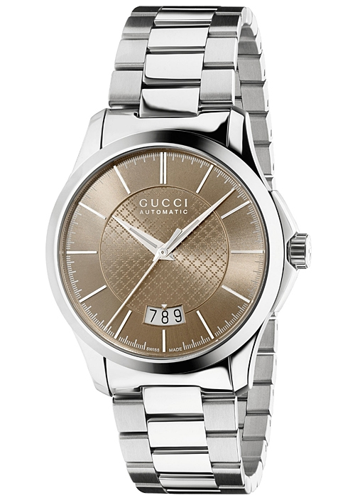 c7ec945c9aa Gucci G-Timeless Automatic Steel Brown Dial Mens Watch YA126431