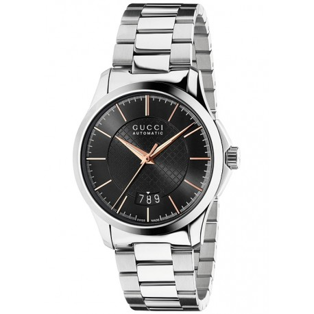 Gucci G-Timeless Automatic Steel Bracelet Mens Watch YA126432