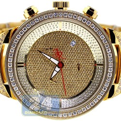 Mens Diamond Watch Joe Rodeo Master JJM22 7.35 ct All Yellow