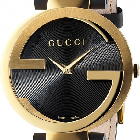 Gucci Interlocking Latin Grammy Gold Tone Womens Watch YA133312