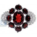925 Sterling Silver 3.27 ct Garnet Topaz Womens Cocktail Ring