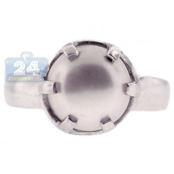 925 Sterling Silver Pearl Solitaire Womens Adjustable Ring