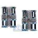 925 Sterling Silver 1.00 ct Blue Topaz Womens Stud Earrings