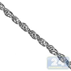 Sterling Silver French Rope Womens Chain 2.5 mm 16 18 20 22""
