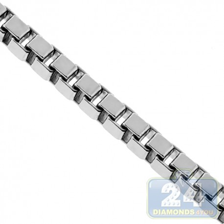 Sterling Silver Square Box Mens Chain 2.5 mm 22 24 26 30 inch