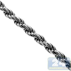 925 Sterling Silver Solid Twisted Rope Mens Chain 2.5 mm