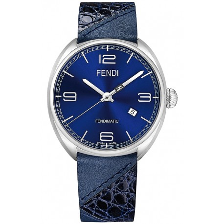 dc41b3725668 F202013031 Fendi Momento Bugs Automatic Mens Blue Watch 42mm