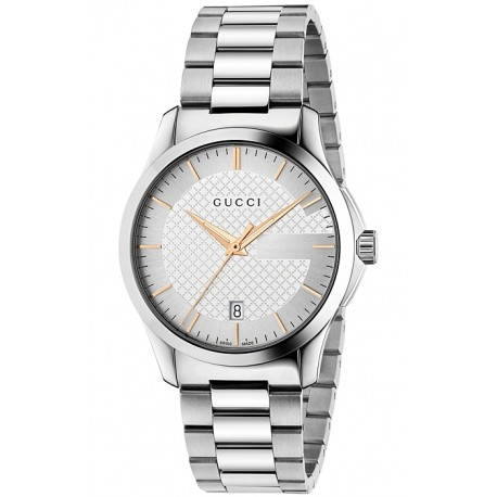 Gucci G-Timeless Stainless Steel Bracelet Unisex Watch YA126442