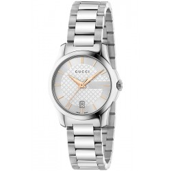 Gucci G-Timeless Small Steel Bracelet Womens Watch YA126523